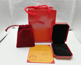 2019 оптовые дешевые браслеты кольца Мода красный цвет браслет / ожерелье / кольцо оригинальный оранжевый box Box сумки ювелирные изделия подарочная коробка на выбор