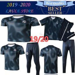 Curto futebol real madrid on-line-2019 Real Madrid kit de treino de futebol de manga curta 18/19 real madrid treino RONALDO MODRIC BALE MARCELO ISCO kit de treino de futebol