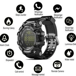 relógio de relógio à prova d'água Desconto EX16 Esporte Bluetooth Relógio Inteligente Xwatch 5ATM IP67 À Prova D 'Água Smartwatch Pedômetro Cronômetro Despertador LONGO TEMPO STANDBY