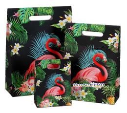 Bolsa de papel de doces on-line-Flamingo Sacos de Presente De Papel potável, embalagem de jóias de roupas, doce Saco de presente de Dia dos Namorados, fontes da Festa de Aniversário de Casamento Sacos