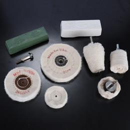 outils de polissage Promotion 9pcs blanc chiffon polissage meuleuse kit bois polissage roue perceuse bijoux en bois outil abrasif