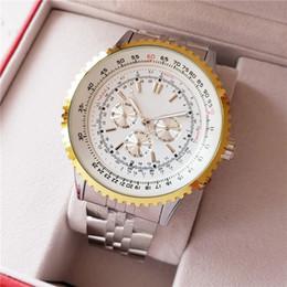 Relojes superocean online-Nueva llegada reloj mecánico automático para hombre Aeromarine Superocean Heritage 47mm aleación esfera blanca reloj de pulsera de los hombres