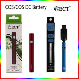 pluma dc Rebajas ECT COS DC Kits de batería 450mAh Precalentamiento Kit de baterías Multi color ecig Batería Voltaje variable para 510 hilos Batería Vape Bolígrafos