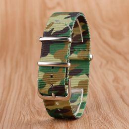 Schnalle Leder 22mm Stoff Nylon Armband Outdoor Military Armbanduhr Strap NATO Camouflage Ersatz mit Stahl Dornschließe + 2 Frühling ... von Fabrikanten
