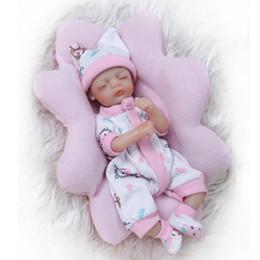 2020 bambole veramente animate Commercio all'ingrosso 8inch 20 cm Bebe Reborn Mini bambola morbido silicone realistico giocattolo regalo per il bambino di Natale Cute Girl rosa cuscino bambole veramente animate economici