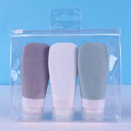 2019 botellas de champú de plástico al por mayor nuevo ventilador sub Embalaje botella Kit de almacenamiento de viaje Recibir champú cosméticos Cosmética Artículos para el hogar