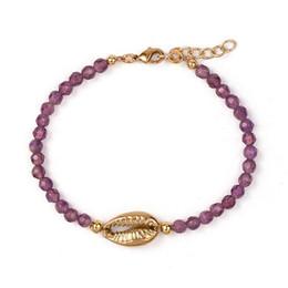 afrikanischen charme für armbänder Rabatt Pulseras Baltic Multi Slide Kauri Muschel Charms Armband Frauen Bohemian Boho Afrikanisch Mehrfarbige Perlen Armbänder für Frauen