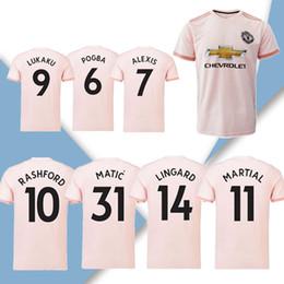 Squadre di calcio del club online-# 6 Maglia da calcio POGBA away 18/19 # 9 Maglia da calcio LUKAKU 2019 # 7 ALEXIS # 10 RASHFORD # 14 LINGARD club team Uniformi da calcio