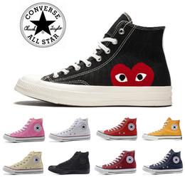 1970 chaussures de toile de mode de planche à roulettes Hommes Femmes rouge blanc noir classique haut Skate baskets Conversechaussures