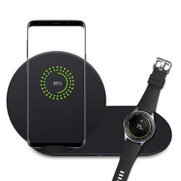 Qi беспроводная зарядная галактика s3 онлайн-Оригинальный QI Samsung S10 Беспроводное зарядное устройство 25 Вт Duo Pad Быстрая зарядка для Galaxy S7 S8 S9 плюс S10e Note 8 9 DE S3 см. Быстрый адаптер Dual Dock