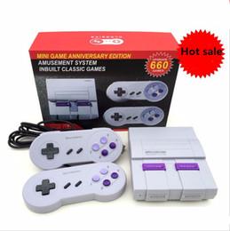2019 jogo pmp 4gb Super clássico SFC TV Handheld Mini família consolas de jogos mais novo sistema de entretenimento para 660 SFC NES SNES consola de jogos + caixa de varejo