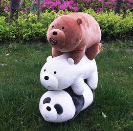 2019 gros porte-clés de ours en peluche Lovely item We Bare Bears Peluches bébé jouets poupées Animaux en peluche enfants Gifts16 '' pour les cadeaux de Noël
