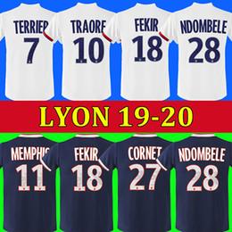 Maillot de foot Olympique Lyonnais lyon soccer jersey 2019 2020 Lyon football shirt TRAORE MEMPHIS FEKIR OL 19 20 lyon jersey shirts MAILLOTS de foot ? partir de fabricateur
