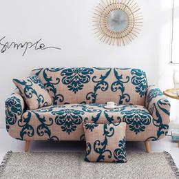 Einzelsofas online-Couch-Abdeckung Stretch Sectional Elastic Cover für Wohnzimmer-Sofa L-Form-Sessel-Sofa-Abdeckung für Single / zwei / drei / vier Sitz