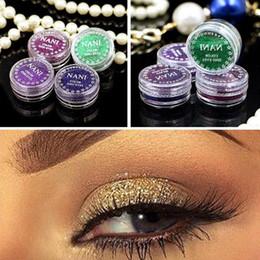 Pó de pérola natural on-line-24 Cores / 24pcs / lot cosméticos face Maquiagem Glitter Shimmer pó monocromático olhos do bebê noiva pérola em pó Glitters Make up
