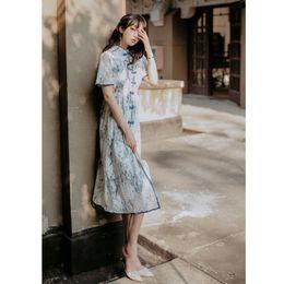 Weiße spitze cheongsam kleider online-Formelle Kleidung für Frauen Vintage Palace Französisch Stil White Lace Cheongsam Brautjungfer Elegante Abendkleider 9361