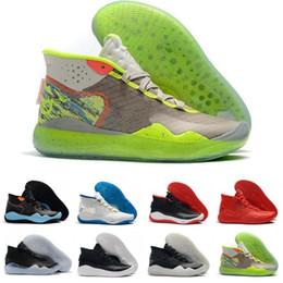 2019 zapatos de camuflaje para mujer Barato KD 12 A partir de Kevin Durant XII EP The Day One 90s Protro Green Camo para mujer para niños Zapatillas de baloncesto 12s KD12 Sneakers Size36-46 rebajas zapatos de camuflaje para mujer
