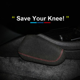 Интерьер Кожа Подушка для ног Накладка на колени для бедер Стайлинг автомобиля для BMW E46 E39 E60 E90 E36 F30 F10 Ford Mustang Mercedes Audi Аксессуары от