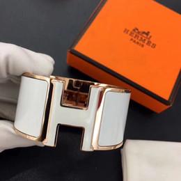 фабрика прямые китайские ювелирные изделия Скидка 33 мм Новое поступление 316L титановая сталь черный панк-браслет с эмалевым цветом и H слов для мужчин и женщин браслет PS5301A