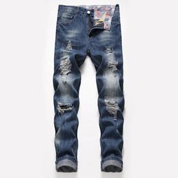 jeans de diseñador para hombre sueltos Rebajas Jeans de diseñador para hombre Rectos Agujero grande Tipo flojo Primavera Verano Nuevo estilo Pantalones de viento urbano de moda