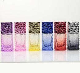 Kosmetikspray verpackung online-25 ml Glas Parfüm-Flaschen Spray nachfüllbar Zerstäuber-kosmetische Glasflasche Travel Cube Container Spray Verpackung Flasche heiß GGA2818