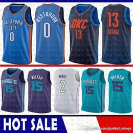 aaba810d8fa 2019 New Charlotte # Hornets Jersey Kemba 15 Walker Paul 13 George Russell  0 Westbrook Oklahoma Basketball City # Jerseys Thunder discount paul george  ...