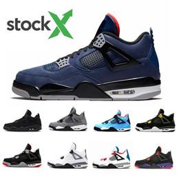 X tomas online-Nike Air Jordan Retro 4 Stock X Loyal Blue 4 4s IV Mens Basketball Shoes Bred White Cement What The Cactus Jack Cool Grey Men Women Sports Sneakers