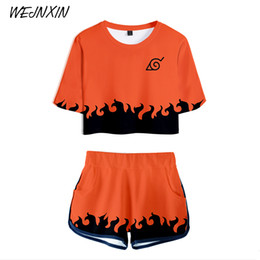 2019 filles sexy chaudes t-shirts Wejnxin Anime Uzumaki Naruto Conception 3d Imprimer Femmes Sexy Ensembles T Shirt Court Tshirt Harajuku Fille Japonaise Hot Tops Tee J190425 filles sexy chaudes t-shirts pas cher