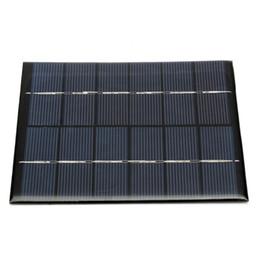 Panel solar policristalino 6v online-110 x 136 x 3 mm Módulo de panel solar para batería de luz Cargador de teléfono celular Portátil 6V 2W 330MA DIY Energía de silicio policristalino