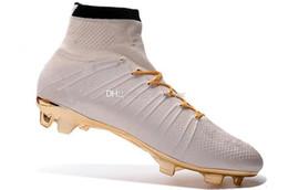 ronaldo zapatos de fútbol Rebajas Zapatos de fútbol al por mayor para los hombres S Mercurial Superfly Fg Cr7 calcetines botas de fútbol para mujer para hombre de alta Tops Ronaldo tobillo de fútbol de interior Tacos