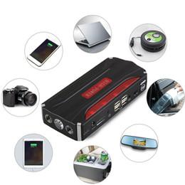 2019 avviatore della batteria portatile Salta Banca di potere multifunzionale 12V 4 USB Mini Car Starter For avviamento di emergenza Chargable batteria calda avviatore della batteria portatile economici