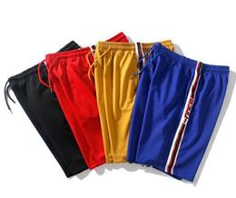 2019 pantaloni di yoga pieno di lunghezza del mens Pantaloncini di marca di moda di marca estiva Fashion Splicing mens designer Hip Hop Pantaloni a cinque punte Jogger Hot pants