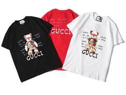 Moda uomo T Shirt Hip Hop Bianco Abbigliamento uomo Casual Teddy bear T Shirt Uomo Lettere stampate TShirt supplier teddy bears t shirts da teddy bear t shirts fornitori