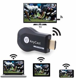 Bastone da tavola online-Stick TV HD AnyCast M9 Plus per Chromecast Youtube Netflix 1080P Display TV WiFi WiFi Ricevitore dongle DLNA Miracast per Tablet PC del telefono