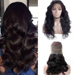 Longs cheveux noirs en Ligne-Brésilien 360 Dentelle Frontale Perruques Pré Cueillie Avec Des Cheveux de Bébé Complet Brésilien Body Wave Cheveux Humains Dentelle Avant de longues perruques Pour Les Femmes Noires