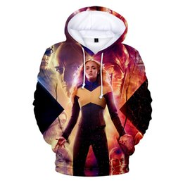 Costumi fenix x uomini online-VIP FASHION X-Men Dark phoenix Felpa Cosplay con cappuccio X Men Pullover Uomo Donna 3D stampato Felpa Print Hooded Costume