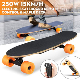 rad elektrische skateboards Rabatt Elektro-Skateboard Vierrad-Longboard Skateboarddecks Maple Deck Wireless Remote Controll Skateboard Wheels Für Erwachsene Kinder