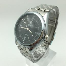 Montre de luxe hommes en acier inoxydable affichage analogique calendrier semaine étanche montre à quartz des hommes d'affaires montre pour hommes ? partir de fabricateur