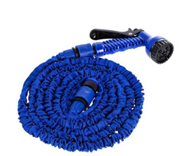 Pistole di vendita al dettaglio online-Expandable Garden Hose Flexible Garden Water Hose 50FT for Car Hose Pipe Watering Irrigation With Spray Gun 15M with retail package