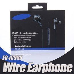 Logos de micrófonos online-Tenga Auriculares LOGO S8 EO-IG955 3.5mm en la oreja con Micrófono Auriculares para auriculares para teléfonos inteligentes Samsung Samsung Samsung