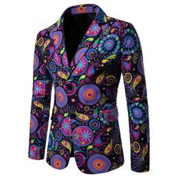 2019 casaco de homem elegante 2019 designer de roupa dos homens de luxo Designer Mens Blazer Jacket de impressão à moda extravagante Marca florais Sexo Masculino Ternos Blazers 7,24