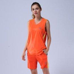 Athletische basketball-trikots online-2334Women 02332pcs Basketball Jersey Kleider Quick Dry Männer Basketball Kleidung Paar Leichtathletik Sport-Jersey-Uniform Individueller Druck