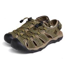 2018 estate scarpe da spiaggia in pelle di grandi dimensioni uomini  all aperto baotou comodi sandali da uomo casual 7c3763fb2eb