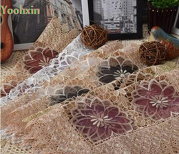 spitze tischmatte doilies Rabatt Luxus spitze stickerei tisch tischset tuch kaffee pad tasse Weihnachten tee bahn glas tischset getränk deckchen speisebecher küche C18113001