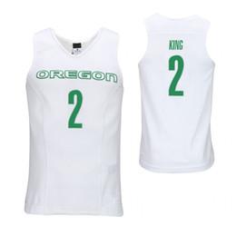 roi personnalisé Promotion Maillots de basket-ball collés sur mesure pour collégiens College King blancs et blancs Will Will Richardson Green