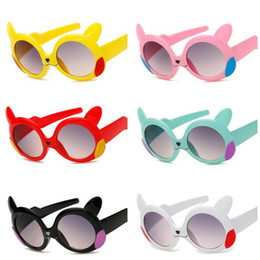 Kinder cartoon gläser rahmen online-Kinder Sonnenbrillen Cute Baby Cartoon Brille UV400 Schutz Brillen Kunststoffrahmen Sicherheit Beschichtung Sonnenbrille Kinder Beach Party Favors