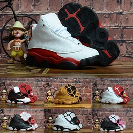 best cheap e1aca 0724c nike air jordan aj13 13s Bambini Bambini Scarpe da pallacanestro Wheat Hyper  Toddler Sneaker Olive Green Bordeaux Infant 13 scarpe da ginnastica a  prezzi ...