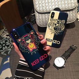 Wholesale Um pedaço de luxo leão laser cabeça padrão casos de telefone macio para samsung galaxy s9 s9 além de nota para iphonexsmax xr xs p raia azul imd