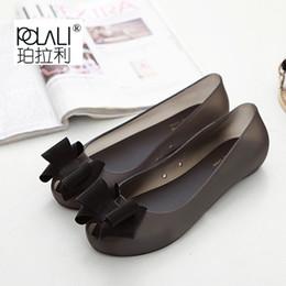 zapatos sandale Rebajas Zapatos Mujer Sandalias Sapato Feminino Melissa Sandalias Mujer Zapatos De Verano Sandale Femme Damas Calzado 2019 Punta Abierta Plástico Plano