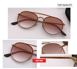Famosas gafas de sol de marca online-Gafas de sol de mujer de moda de alta calidad 2019 Gafas de sol famosas Marca grande uv400 Marcos redondos de metal Fábrica al por mayor rd3614 Oculos fafas frescos